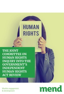 MEND submission to the JCHR inquiry into IHRAR