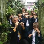 Nose Flute Orchestra in the School Orchid House