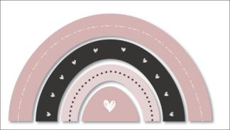 Wandfiguur - Regenboog roze