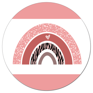 Wandcirkel/Wandsticker Regenboog Jungle roze