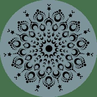 Wandcirkel/Wandsticker Mandala groen zwart