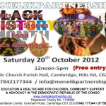Details of Black History Month event