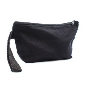 organic cotton toiletry bags black
