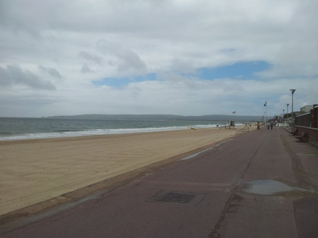 Bournemouth Beach, shame about the lack of sun
