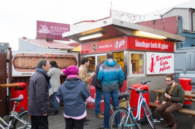 icelandic hot dog stand