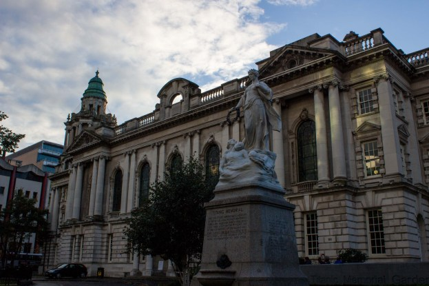 The titanic memorial outside city hall