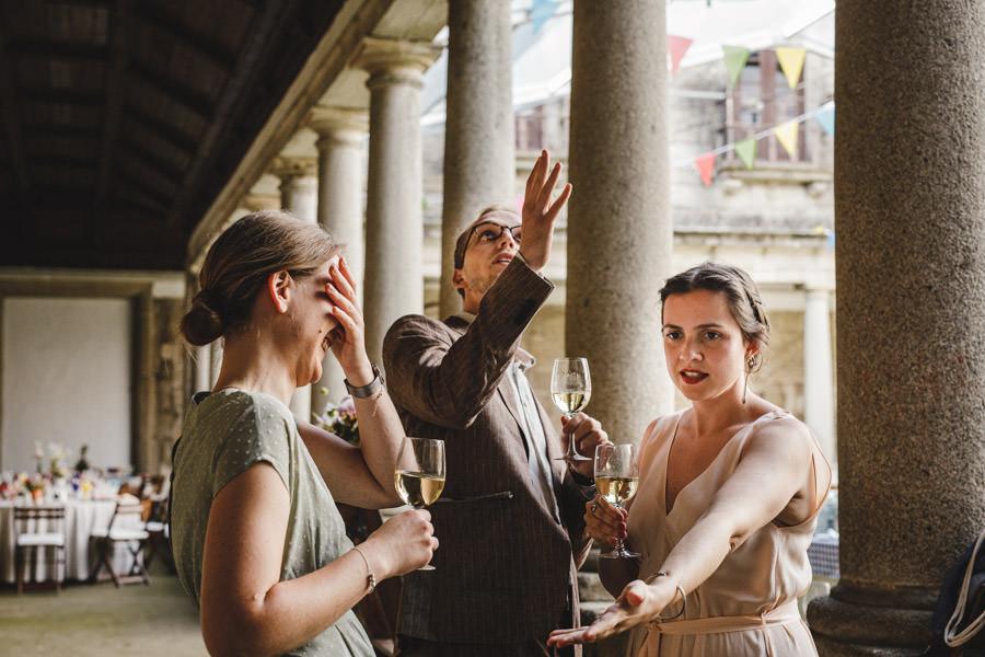 fotografia de casamento convidados em teatro