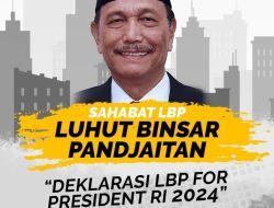 Sahabat LBP Dukung Luhut Binsar Pandjaitan Maju Pilpres 2024