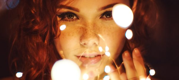 fairy surrounded by lights
