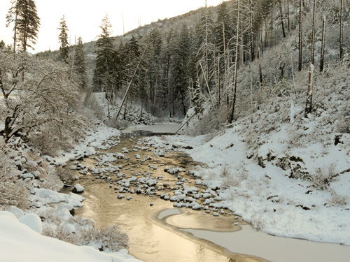 snow american river