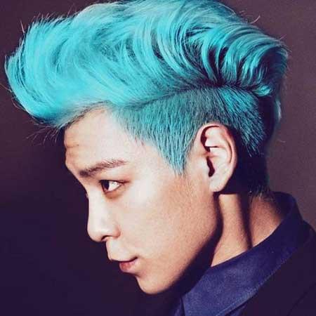 Men blue hair styles
