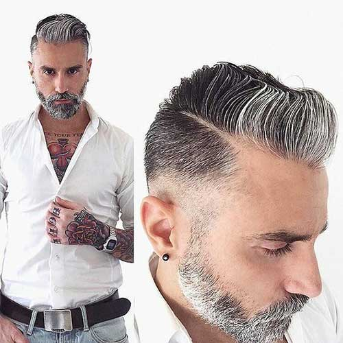 Grey Hair Color on Coolest Guys on Planet | Mens ...