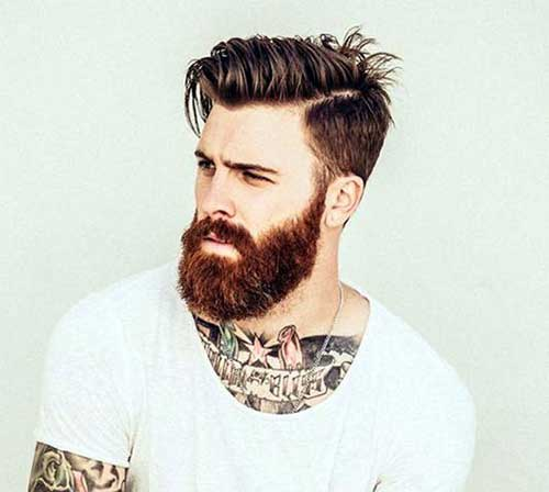 Men Round Short Face Mohawk Hairstyle