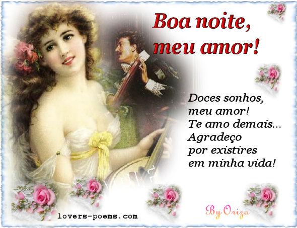 mensagem de amor para boa noite pessoa amada