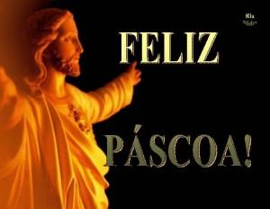 mensagem feliz pascoa com todo amor de Jesus