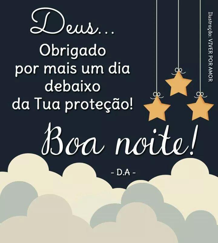 mensagem boa noite obrigado meu Deus