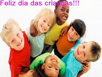 Desejando um feliz dia das crianças
