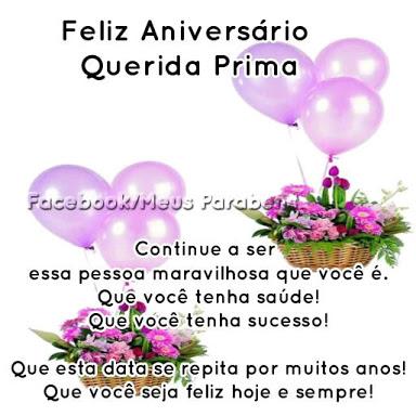 feliz aniversário minha querida prima