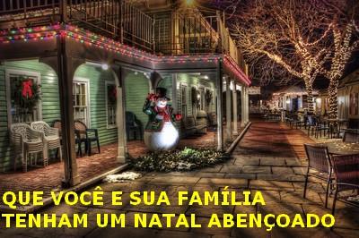 que voce e sua familia tenham um natal maravilhoso