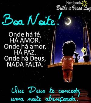 mensagem com amor boa noite familia querida