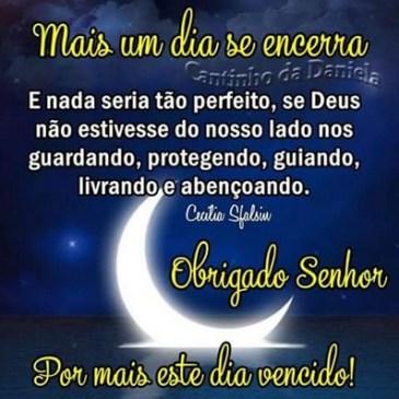 mensagem boa noite com imagem da lua brilhando