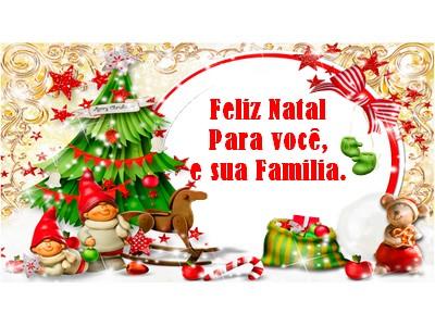 mensagem feliz natal para familia com muito carinho