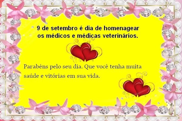 Feliz dia do veterinario para todos os medicos(as) veterinarios