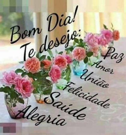 te desejo um bom dia cheio de felicidade