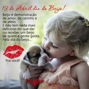 feliz dia do beijo com bastante beijinhos