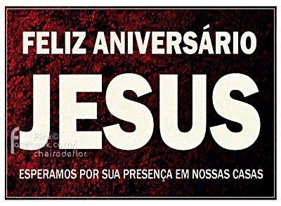 Feliz Natal Feliz aniversario Jesus