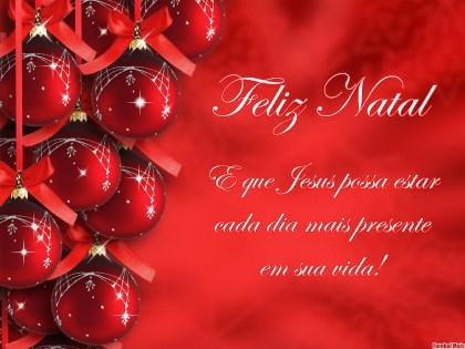 mensagem de feliz natal com Jesus