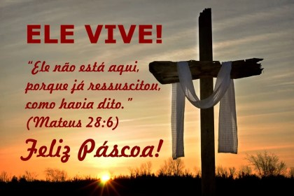Bela mensagem de feliz Pascoa