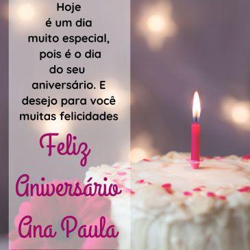 parabens ana paula – mensagem feliz aniversario Ana paula