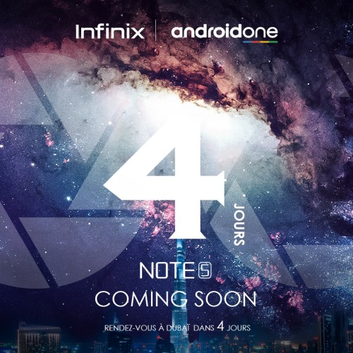 infinix note 5 Count down-7-4-1
