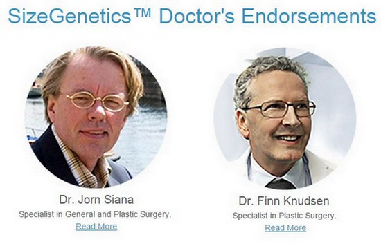 sizegenetics doctor endorsement