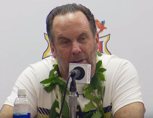 Mike Brey Notre Dame Maui Invitational Game Winner by Chris Filios
