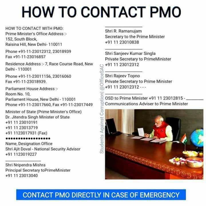 How to Contact PMO