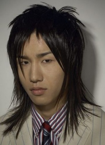Long Asian Men Hairstyle With Layers And Long Layered