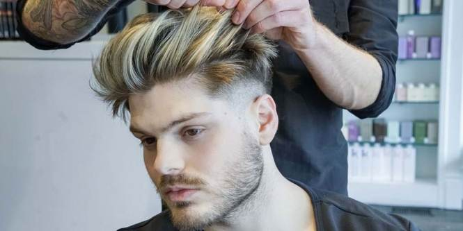 Side Part Slicked Back Cool Haircut For Men