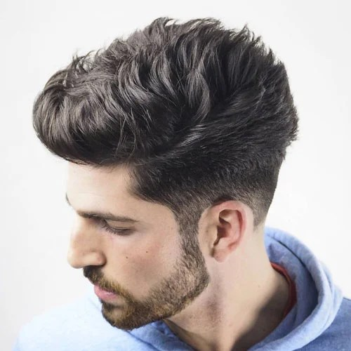 Image result for Spiky Quiff and Faded Sides