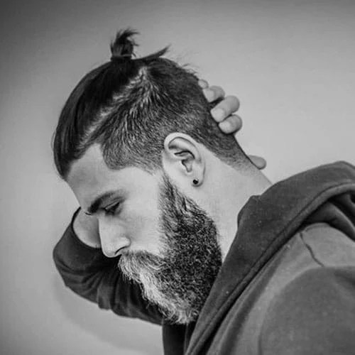 Mens Top Knot Hairstyles Mens Hairstyles Haircuts 2017