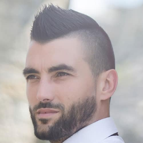 Hairstyle Men Mohawk Face Short Round