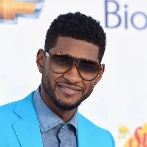 Usher Mohawk Fade Haircut