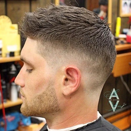 Short Fade Haircuts For Men 35 ทรงผม Vintage Pinterest