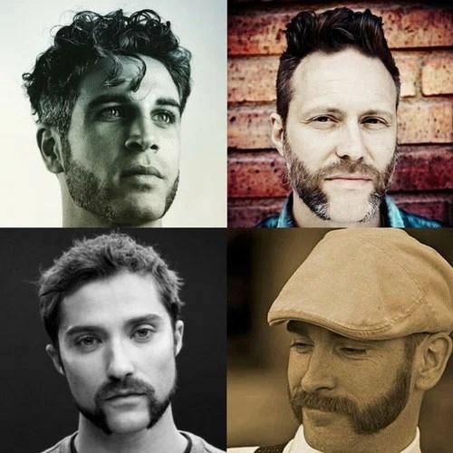 Mutton Chops Beard Long Sideburns Styles Mens