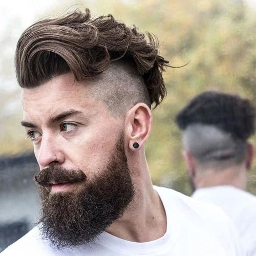 Undercut With Beard Mens Hairstyles Haircuts 2019