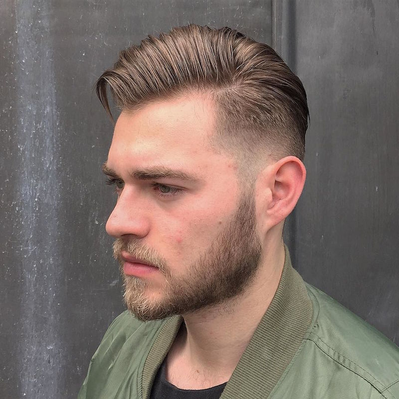 cullencharlie17_medium hair fade and beard