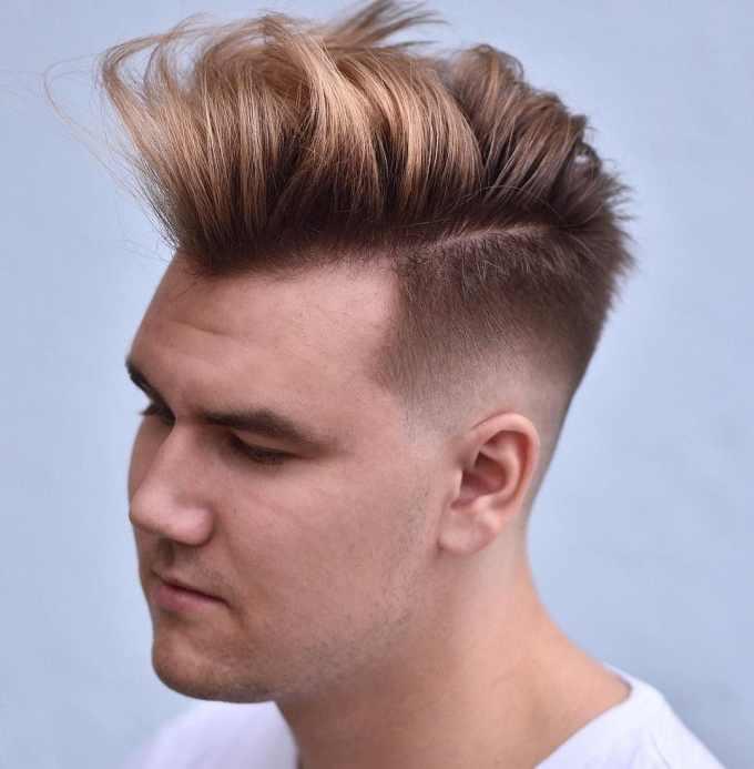 short sides, long top men's haircut