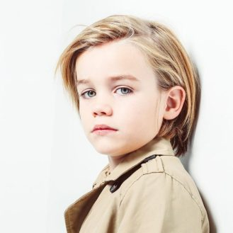 Long hair haircut for toddler boys