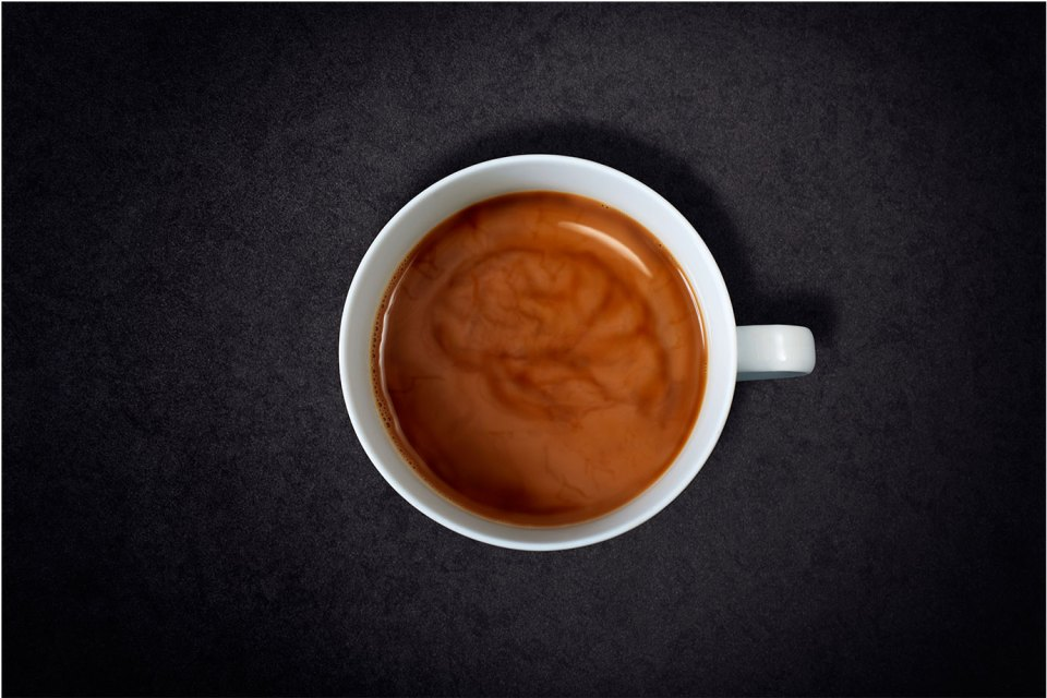 Brain Swirl in a Cup of Coffee